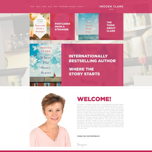 Design a fresh and engaging new look for a bestselling author's existing site.
