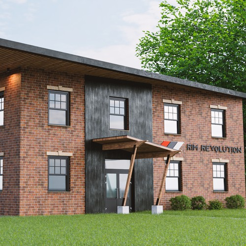 3D Rendering of a commercial Building