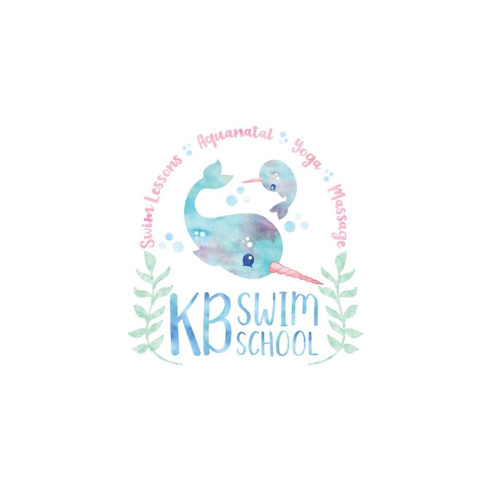Create an adorable logo for KB Swim School