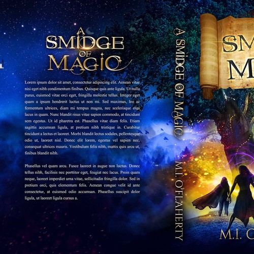A smidge of Magic book cover design