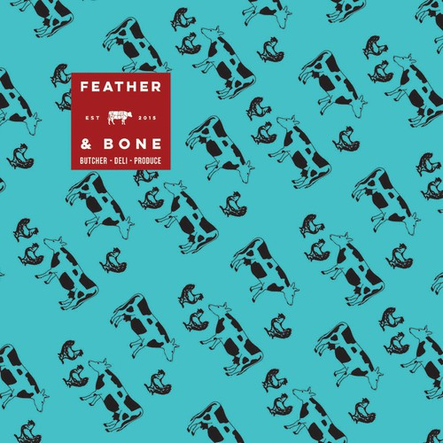 Feather and Bone store gift wrap