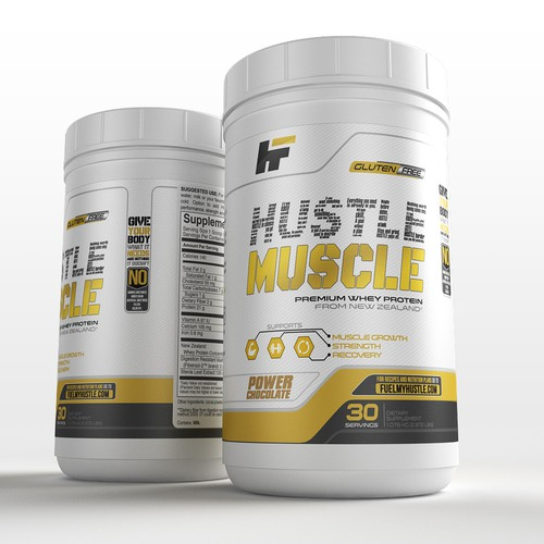 hustle muscle label