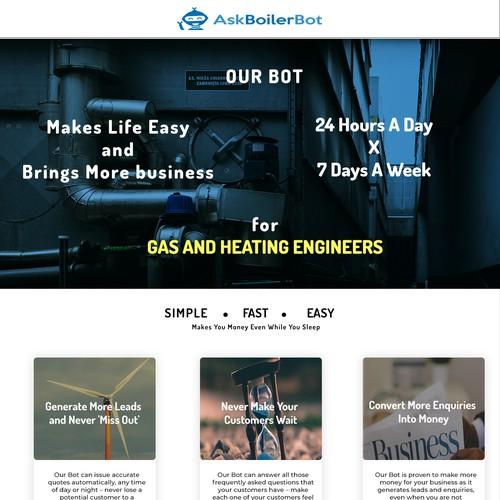 Ask Boiler Bot Home Page Design