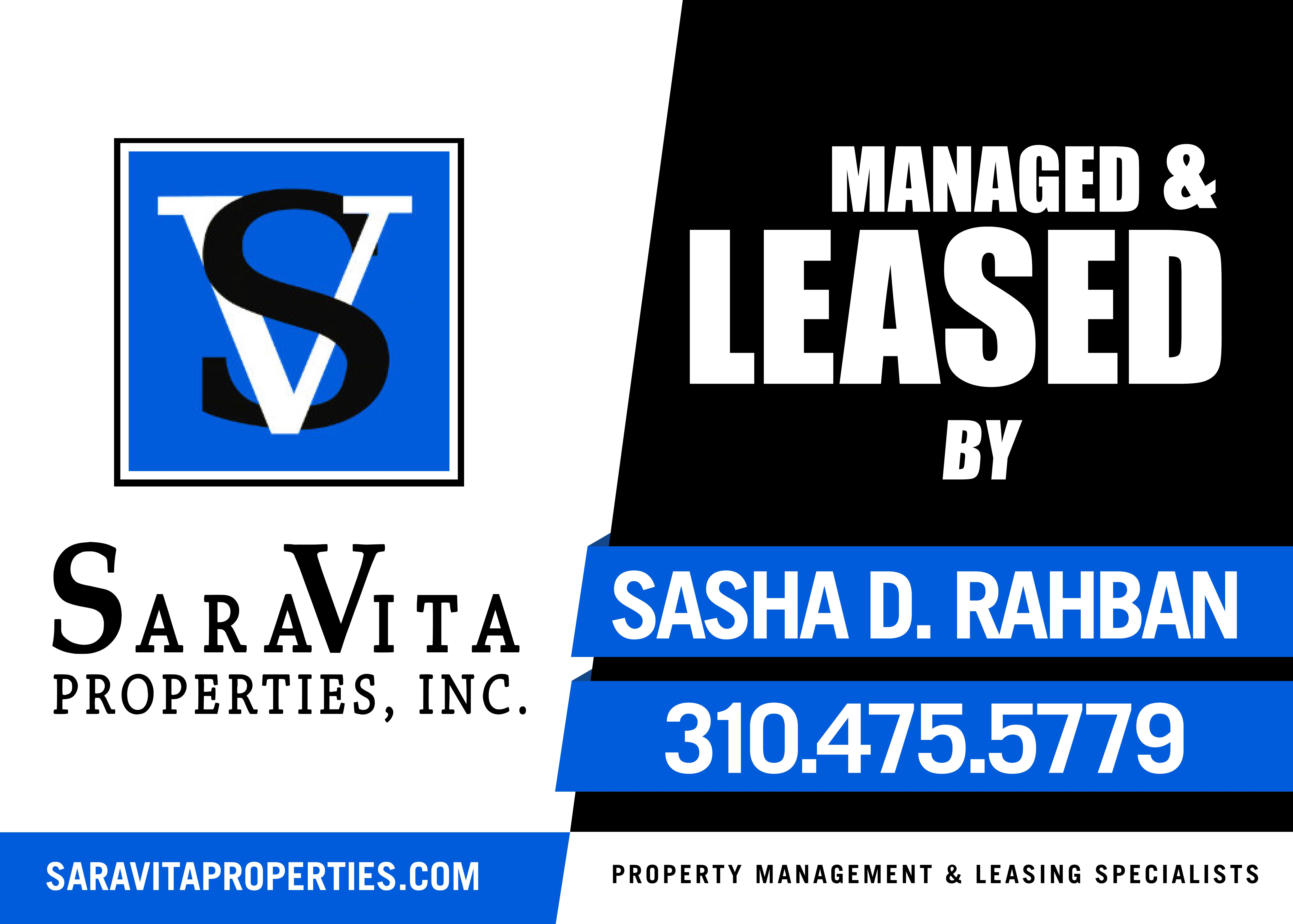 Tech Savy Real Estate Company looking for new For Lease/Managed by Sign