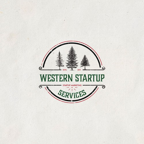 Vintage logo for startup marketing