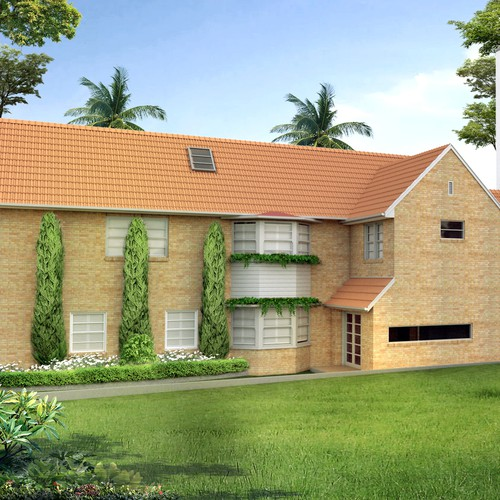 3D modelling and rendering of alterations to an existing house