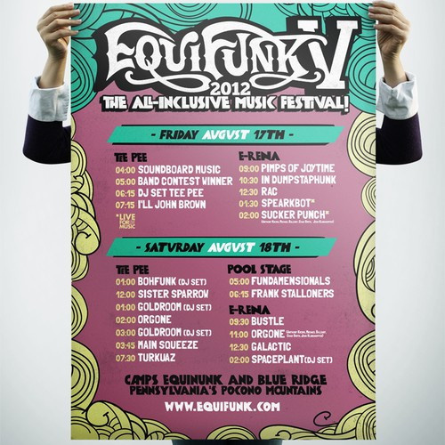 art or illustration for Equifunk: The All Inclusive Music Festival