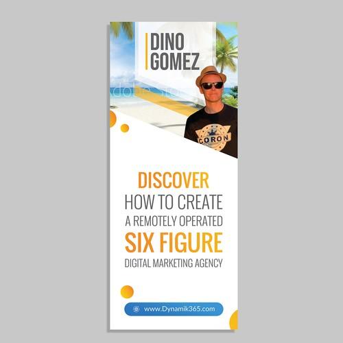 Roll up banner for Digital Marketing Agency