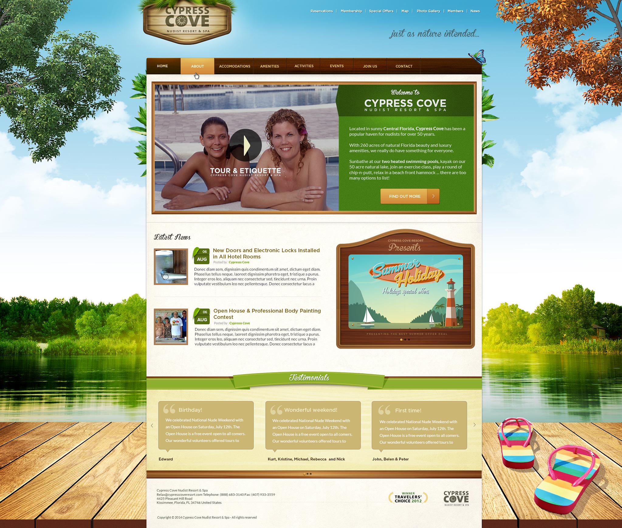 Design the new amazing look of cypresscoveresort.com