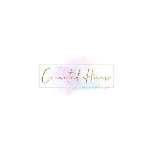 Logo for a Pastels & blonding specialist hair stylist