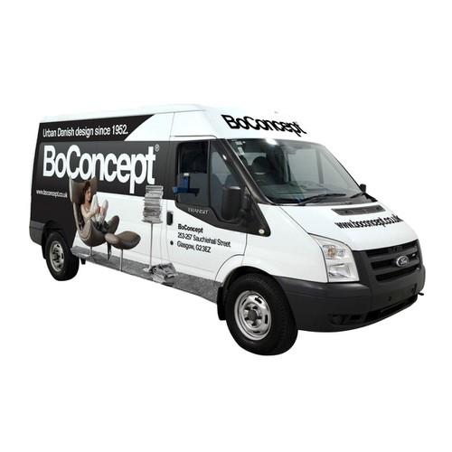 Vehicle wrap for BoConcept Glasgow