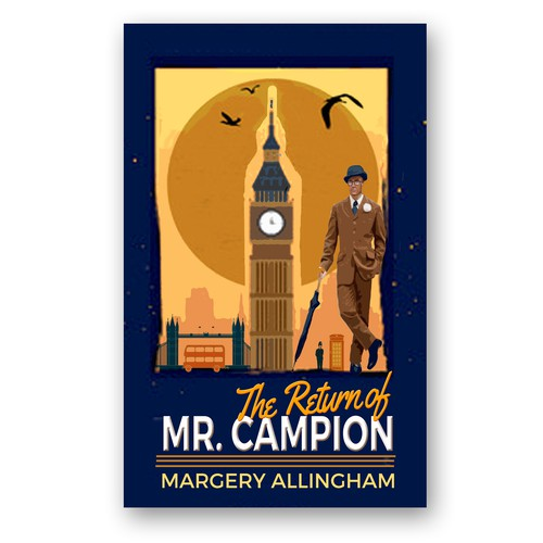 Retro style cover for British  mystery series reprint