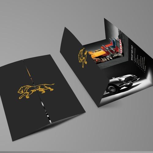 Bold Brochure design for N-Motion Transport