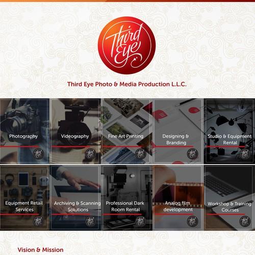 Brochure design for media production studio