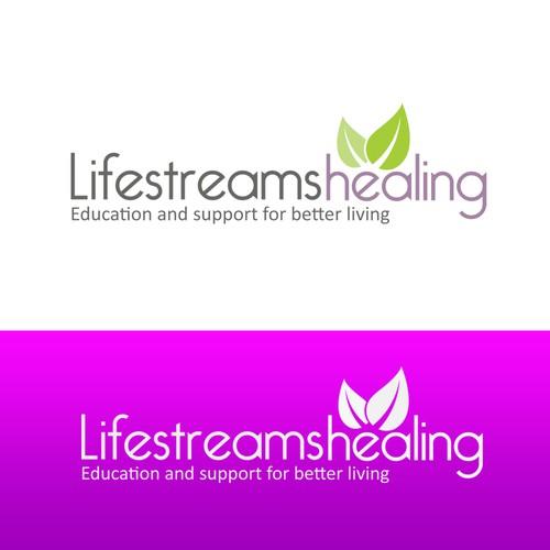Logo concept for lifestreams healing