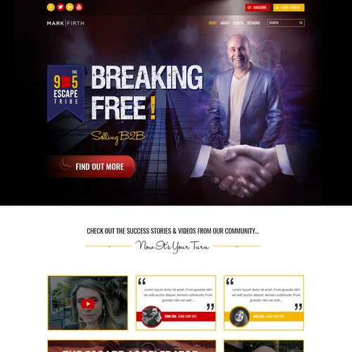 Web Page Design for Personal Brand