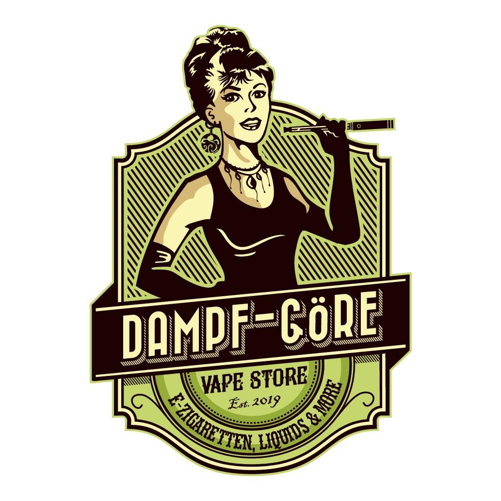 Logo für Vape Shop im Vintrage-Style