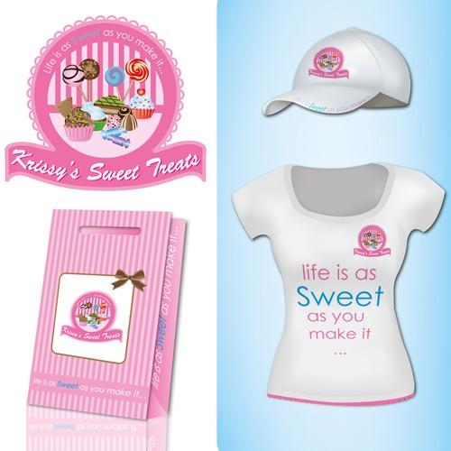Create the next logo for Krissy's Sweet Treats