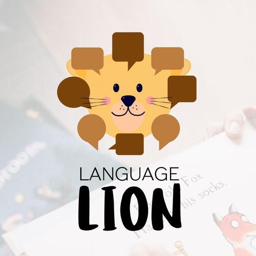 Lion logo, child concept