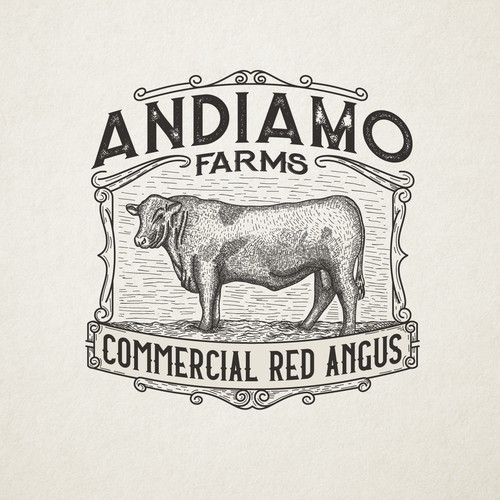 Design for a commercial red angus ranch that sells seed, hay, and sod, and beef cattle