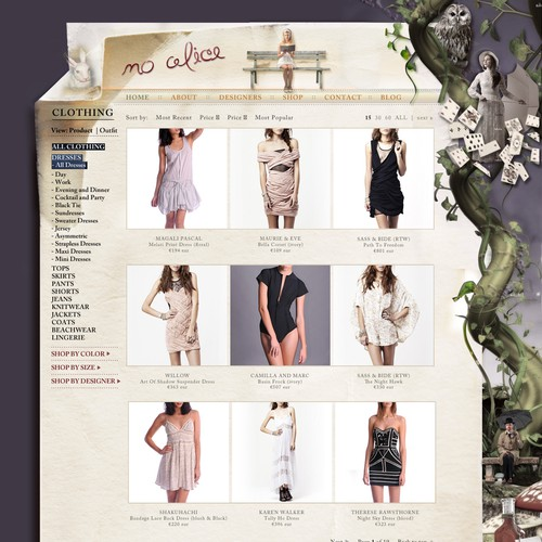 design a super-cute website for hot online fashion boutique
