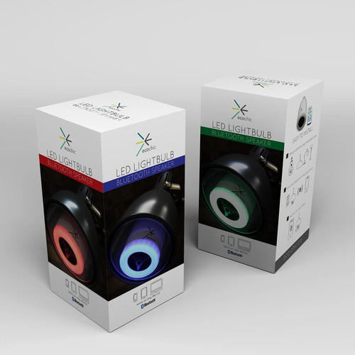Packaging Design for LED BULB SPEAKER