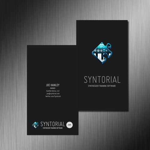 Audio Software Company Needs Sharp Business Card - Logo Provided