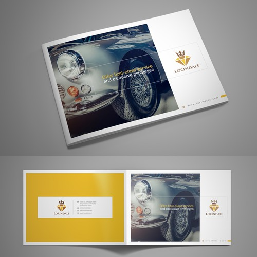 A luxury horizontal a4 booklet