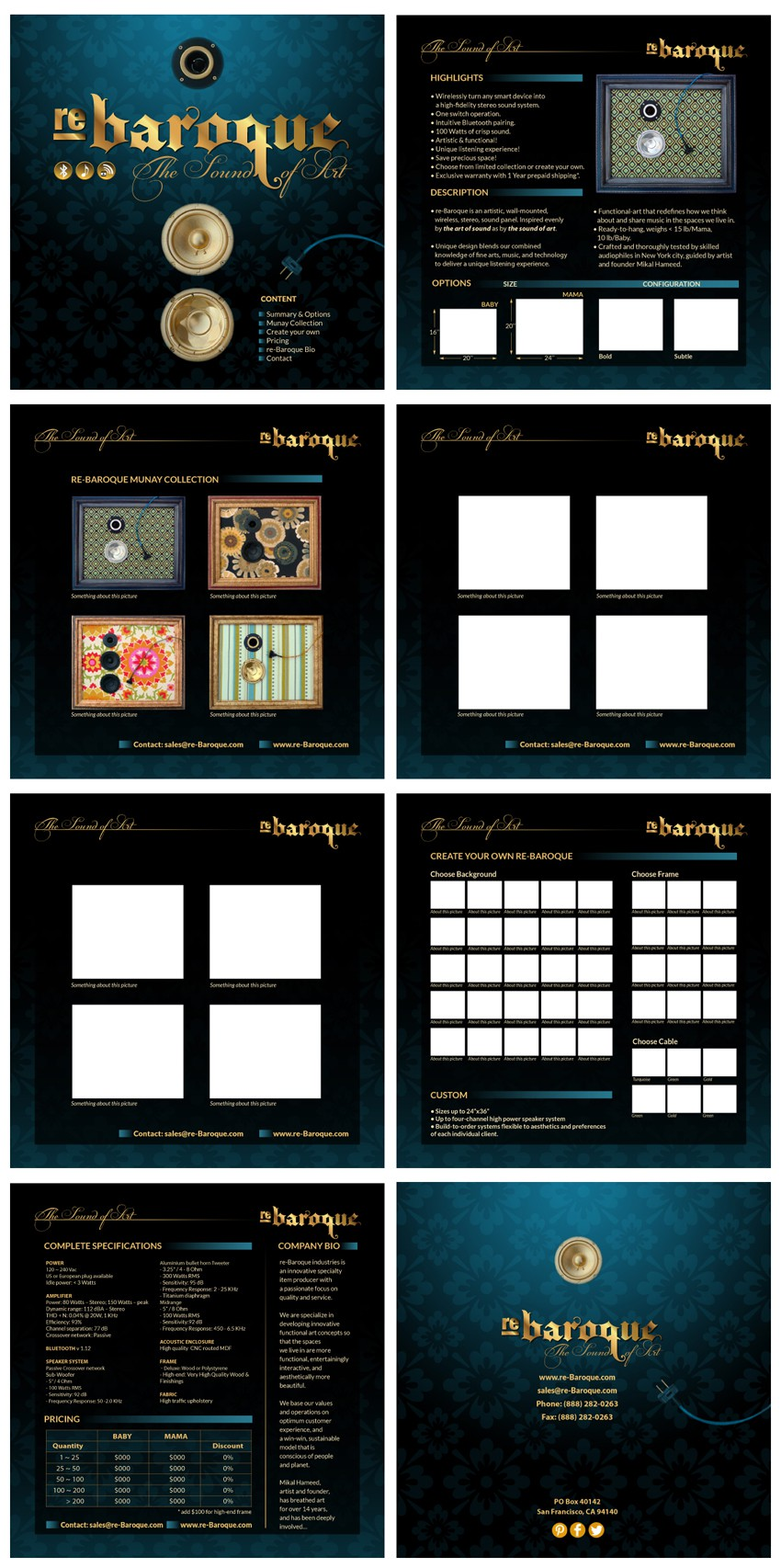 Create the next brochure design for re-Baroque