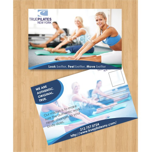Create the postcard that creates the buzz for True Pilates New York