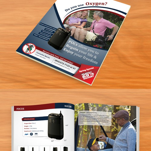 Blow patients away with engaging portable oxygen catalogue that sells products!