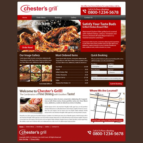 Grillhouse restaurant website design