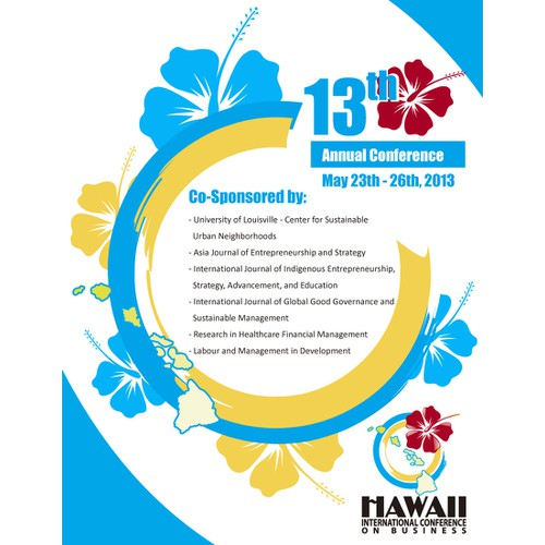 Create the next postcard or flyer for Hawaii International Conference on Business