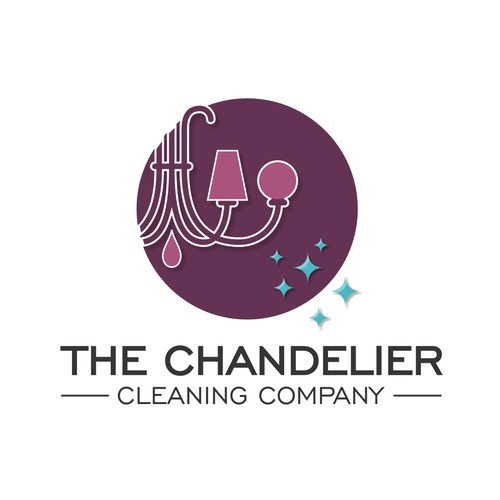 Logo Concept for The Chandelier Cleaning Company