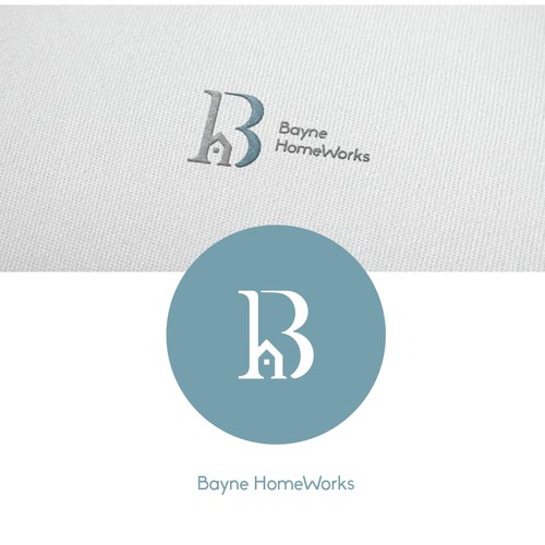 Logo concept Home Renovation and Real Estate