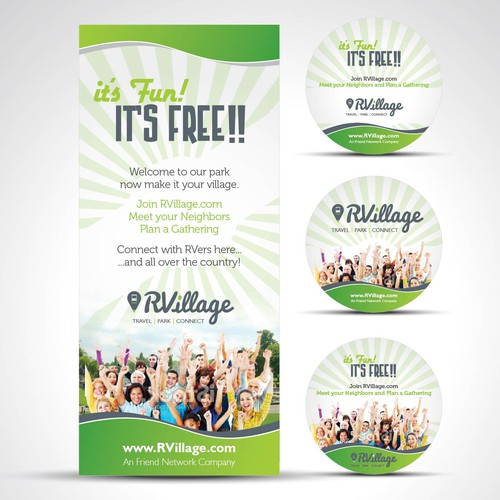 Create a flyer and sticker that will soon be in every RV park in the nation!