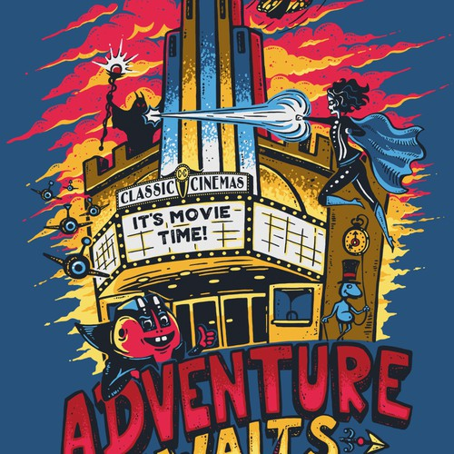 T-shirt Design for Classic Cinemas