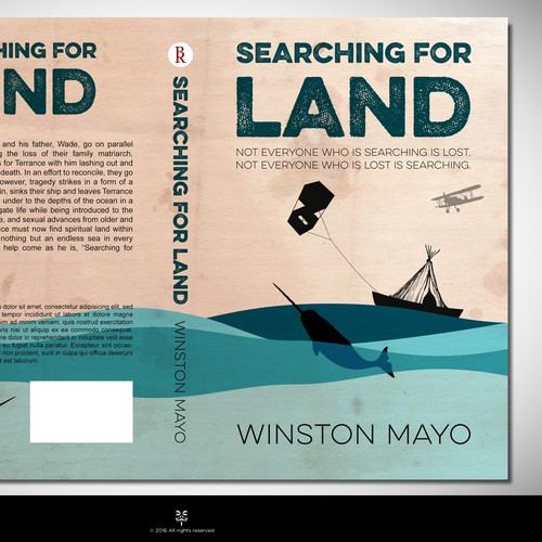 "Book Cover Design for My Book, ""Searching For Land"""