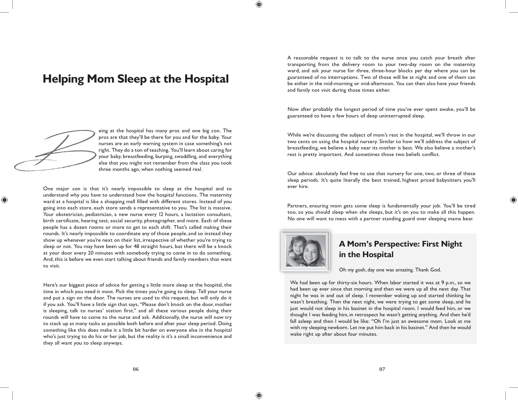 book internal formatting
