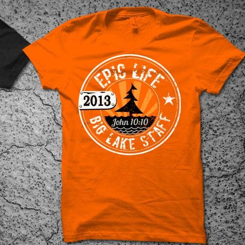 Tshirt for a Christian summer camp Big Lake Staff