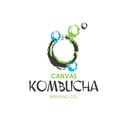 Fun arty logo for Kombucha Brewery