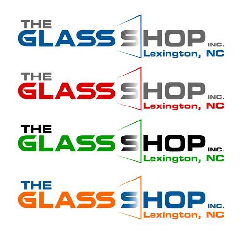 A creative logo for glass repair company