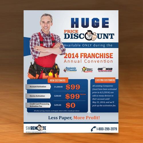 Promotional Flyer for National Franchise Trade Show