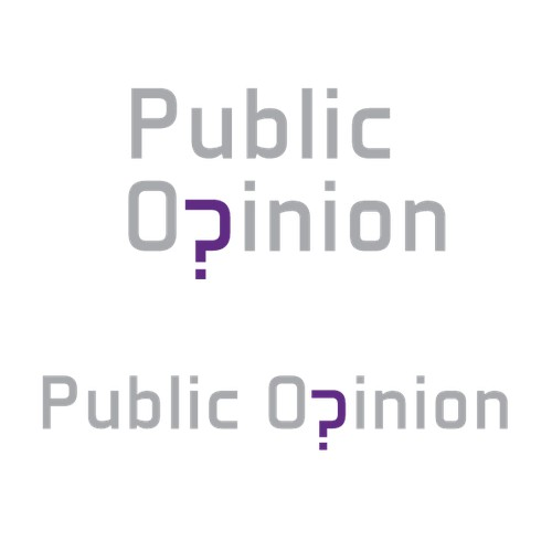 Logo design for a public opinion webpage