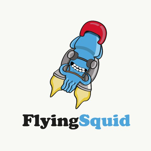 Flying squid logo