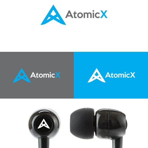 AtomicX logo design