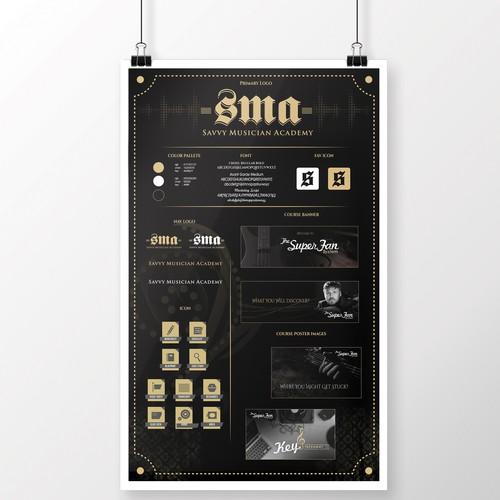 Savvy Musician Academy Branding Board