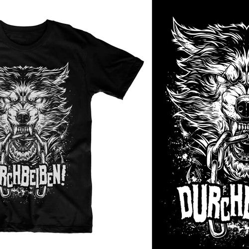 "Aggressives, ""animalisches"" Shirt-Design"