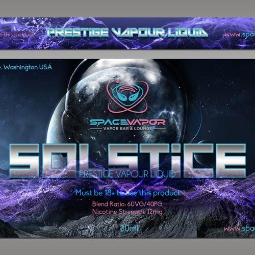 Space Vapor E-Juice Label Design