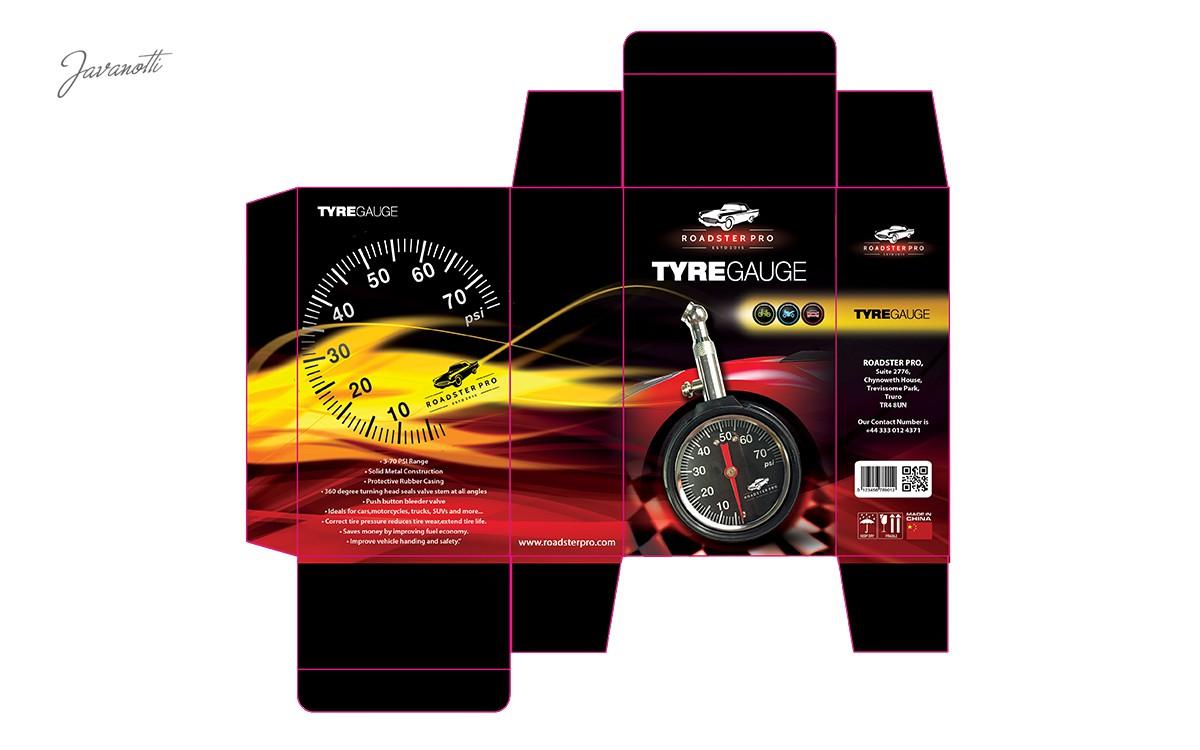 Create Roadster Pro Tyre Pressure Gauge Packaging